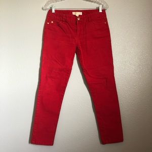 Michael Kors Red Skinny Jeans Women's 2